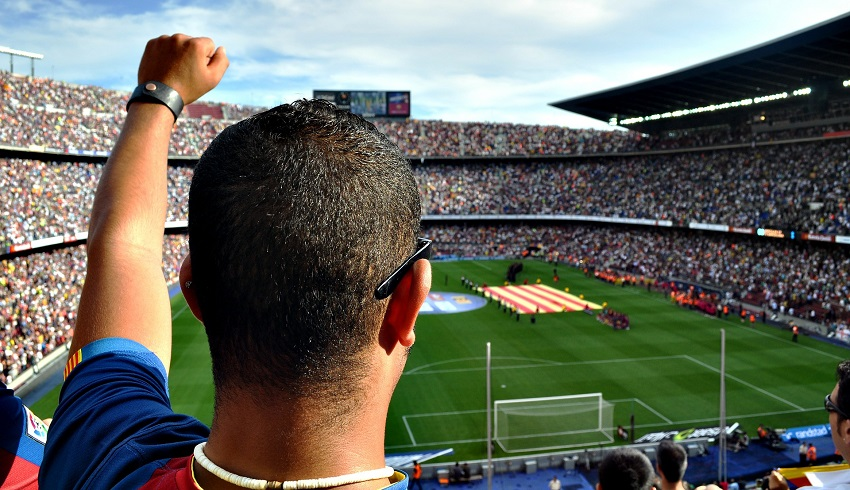 Man at stadium